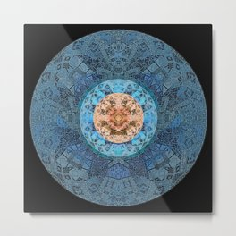 Ancestor Eye Sacred Geometry Mandala Metal Print
