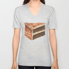 Chocolate Cake Slice Unisex V-Neck