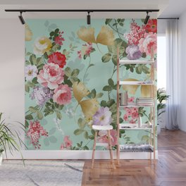 Where Flowers Bloom So Does Hope #illustration Wall Mural