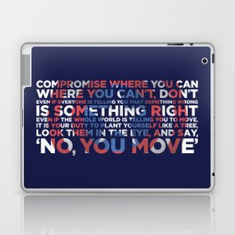 Civil War Quote Laptop & iPad Skin
