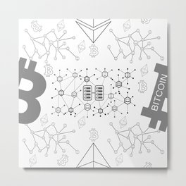 Blockchain cryptocurrency Metal Print