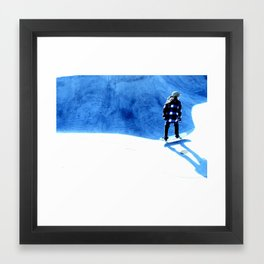 Skate into the blue Framed Art Print