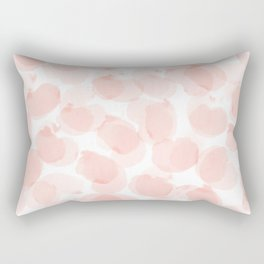Jelly beans muted, pale pink rosette _watercolor  Rectangular Pillow