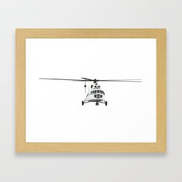 Russian Mi-8 Helicopter Framed Art Print