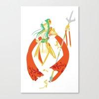 fire emblem Canvas Prints featuring Fire Emblem 13 - Elencia by TracingHorses