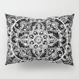Detailed Black and White Mandala Pattern Pillow Sham