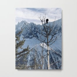 Bird on a tree \\ French Alps Metal Print