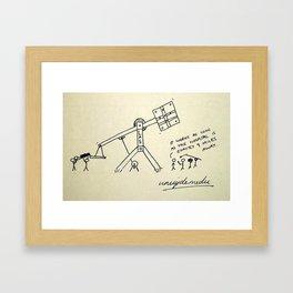 Catapult Framed Art Print