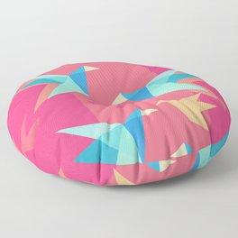 Vivid Pink Paper Cranes Floor Pillow