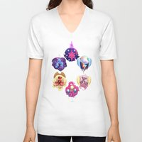 mlp V-neck T-shirts featuring MLP: Altogether Now by lolbatty