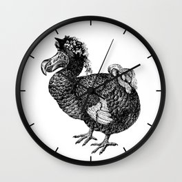 Mrs Dodo   Black and White Wall Clock