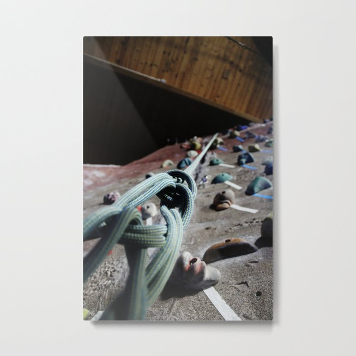 Rock Climbing Wall Metal Print