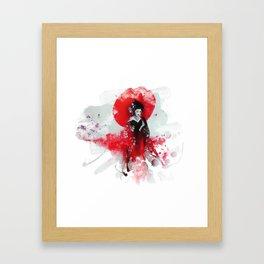 Japanese Geisha Framed Art Print