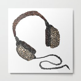 Put Your (Vintage) Headphones On - Abstract Metal Print