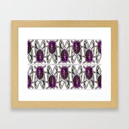 Purple Cicadas Framed Art Print