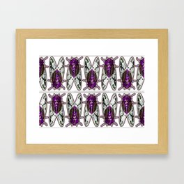 Purple Cicadas Framed Art Print