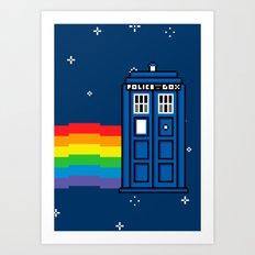 TARDIS / Nyan / 8-Bit Poster Art Print