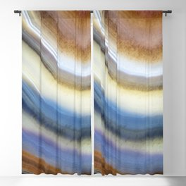 Colorful layered agate 2075 Blackout Curtain