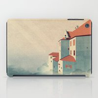 castle in the sky iPad Cases featuring Castle in the Sky by Schwebewesen • Romina Lutz