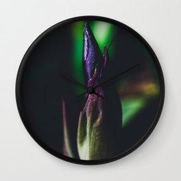 Shimmering Iris Wall Clock