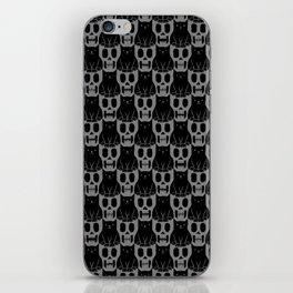 Skulls & Cats Dark iPhone Skin