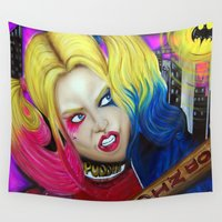 harley Wall Tapestries featuring Harley by Kim Shady
