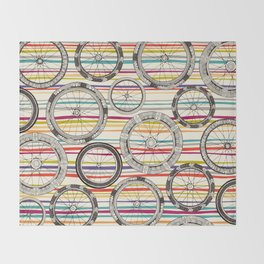 bike wheels stripe Throw Blanket