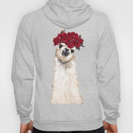 Sexy Llama with Roses Crown Hoody
