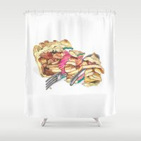pie Shower Curtains featuring PIE by Gel Jamlang