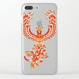 Mythical Phoenix Bird Clear iPhone Case