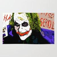 joker Area & Throw Rugs featuring joker by Saundra Myles
