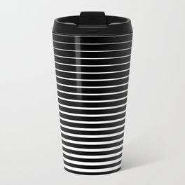 Black & White Stripes 2 Travel Mug
