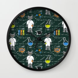 Professor Cat Wall Clock
