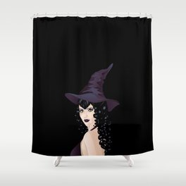 Black witch Shower Curtain