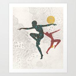 Ethnic Aboriginal Summer Dancer Art Print