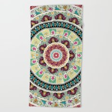 Sloth Yoga Medallion Beach Towel
