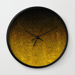 Yellow & Black Glitter Gradient Wall Clock