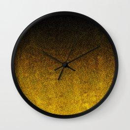 Yellow & Black Glitter Gradient Wall Clock
