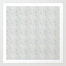 White Apophyllite Close-Up Crystal Art Print