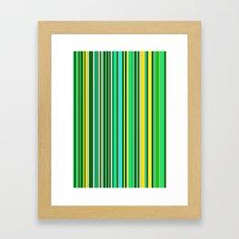 GREEN SPRING STRIPES Framed Art Print