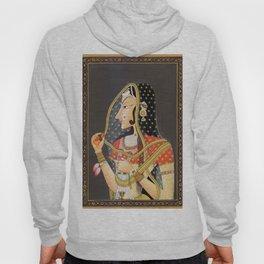 Bani Thani female portrait painting in traditional Rajasthani, the Mona Lisa of India  Hoody