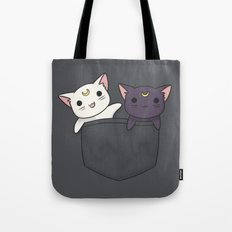 Pocket Kitties Tote Bag