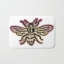 Save The Bees, Linocut - Sales Donated To NAPPC Bath Mat