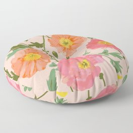 Large Poppy Coral Floor Pillow