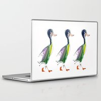 duck Laptop & iPad Skins featuring duck by tatiana-teni