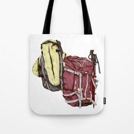 Backpack Adventures Tote Bag