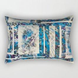 Snaw Unbrak Blue Ice Geometric Rectangular Pillow