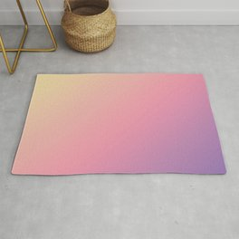 Pastel Yellow, Pink, Purple Gradient Ombre Abstract Rug