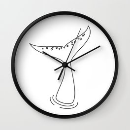 Whale Tail Wall Clock