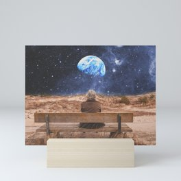 PLANET EARTH, THE UNIVERSE AND I Mini Art Print